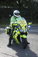 Yamaha motorbike of Durham and Cleveland Police
