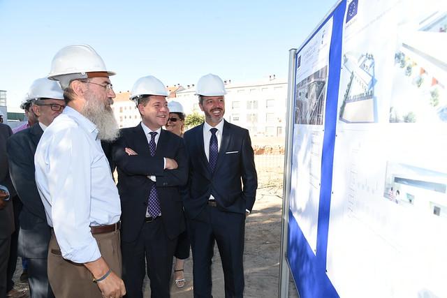 Visita a las obras de ampliación del CEIP 'Remigio Laín' de Yuncler