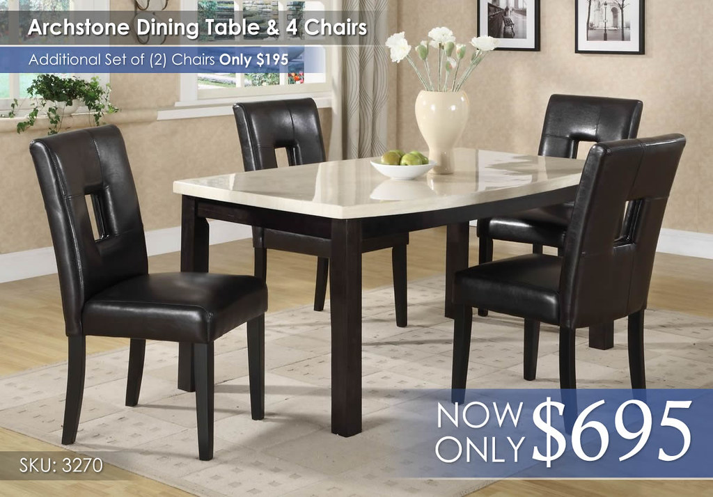 Archstone Dining Collection 3270-64-3270s1bk-4pcs-chair