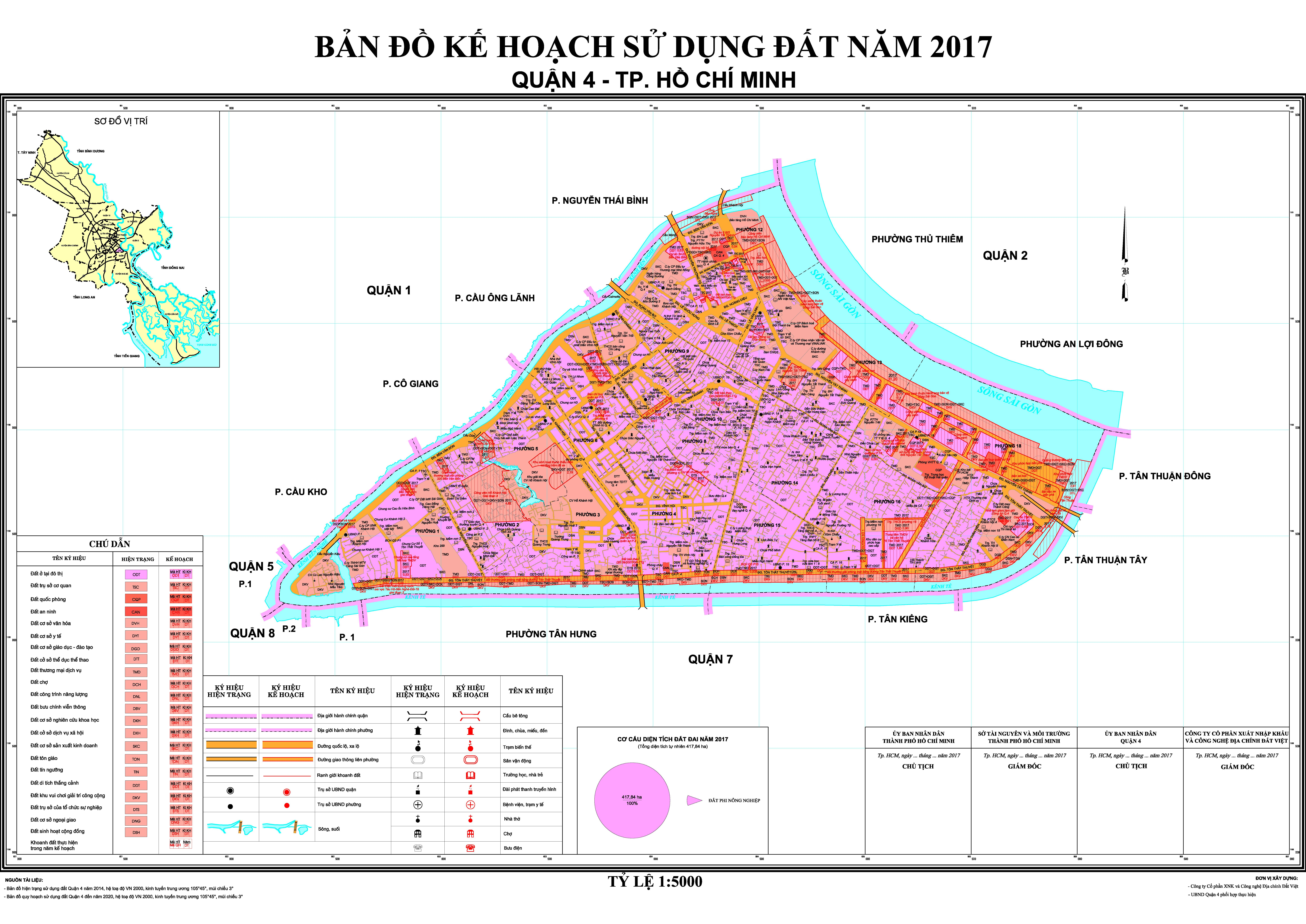 bản đồ quy hoạch sử dụng đất quận 4