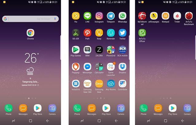 User Interface baru Samsung yang diperkenalkan pada Galaxy S8 (Liputan6.com/ Agustin Setyo W)