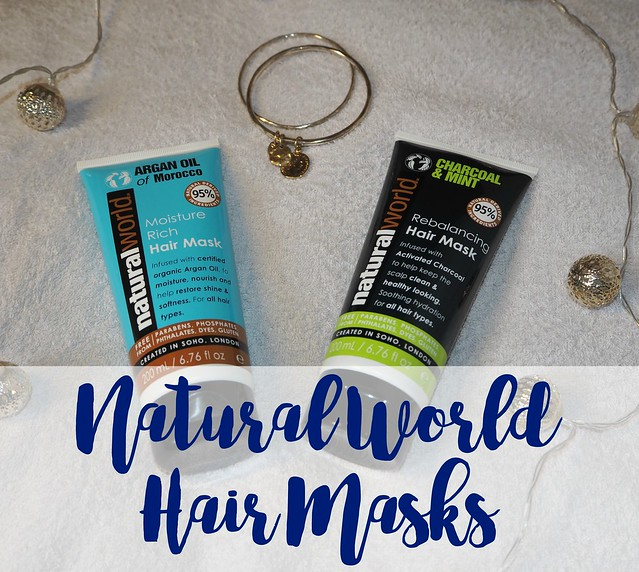 Natural World Hair Masks Argan Oil & Charcoal and Mint