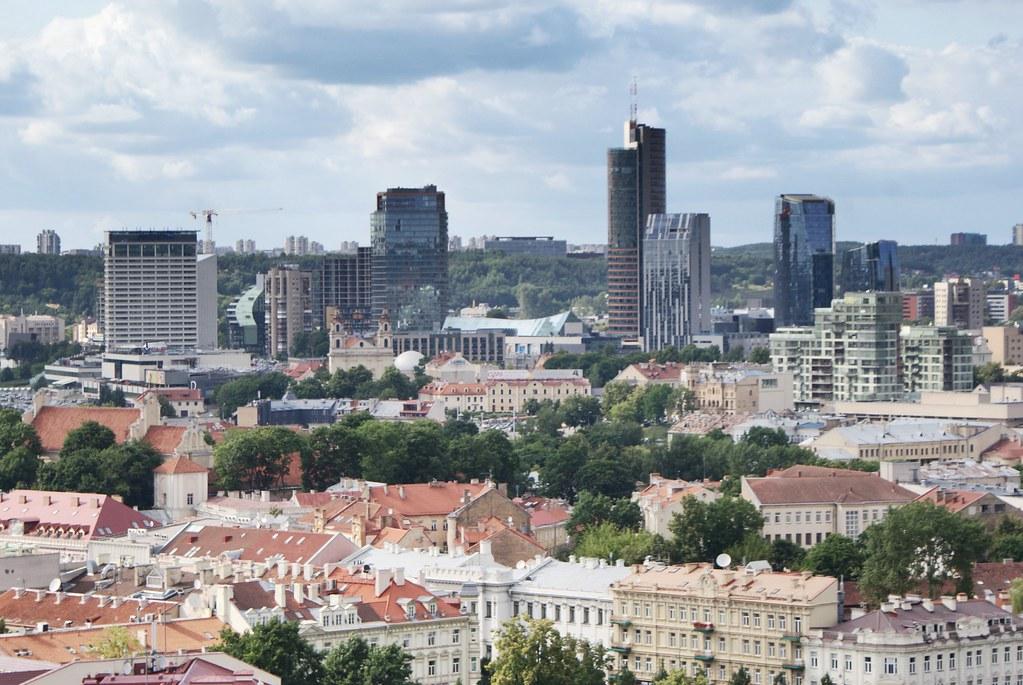 Quartier de Šnipiškės à Vilnius.