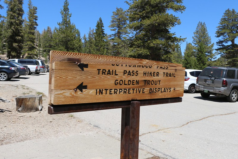 Trailhead for the Trail Pass Trail and the Cottonwood Pass Trail in Horseshoe Meadows