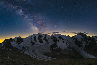 Bernina Range dusk and milky way