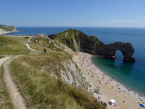 The coast path at Durdle Door