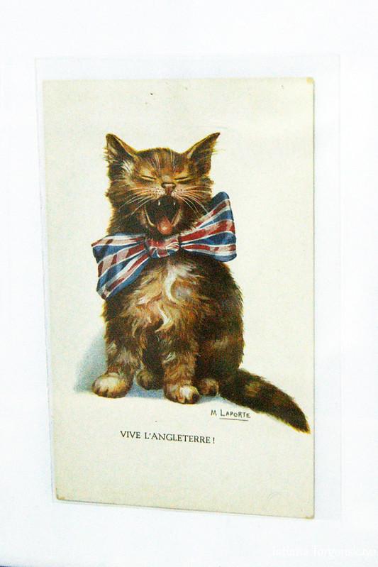 Одна из открыток, представленных в музее