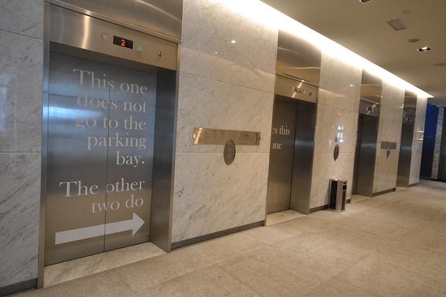 hotel jen puteri harbour funny signage elevator