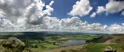 landscape yorkshiredales wharfedale reservoir cloud clouds