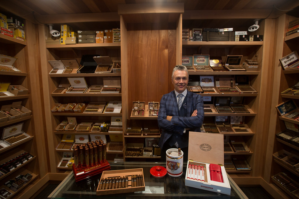 Orion Armstrong inside the humidor