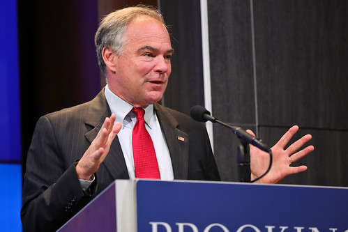 Senator Kaine discussing how the United States' grand strategy has developed over time.