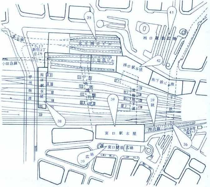 西武鉄道新宿駅 ルミネ(マイシティ)乗り入れ計画図面 (9)