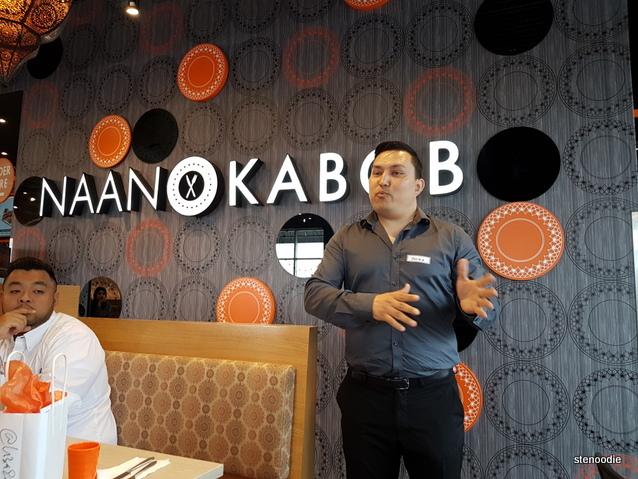 Naan & Kabob catering manager