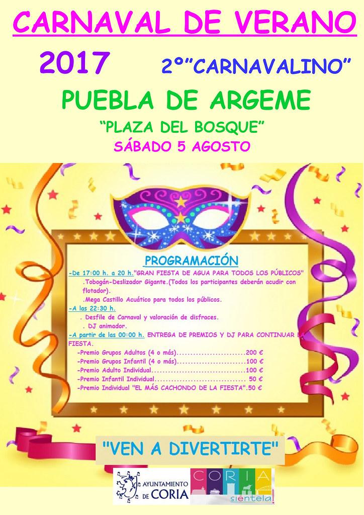 Puebla de Argeme organiza su carnaval de verano