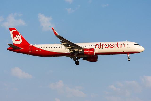 HB-JOV - Air Berlin (Belair) - Airbus A321-211(WL)