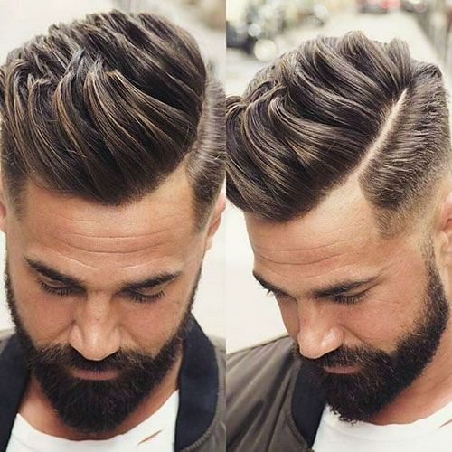 Mens Haircuts Textured Quiff With Low Fade And Part Flickr