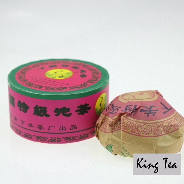 Free Shipping 2004 XiaGuan TeJi Tuo Bowl Pink Boxed 100g * 5 = 500g China YunNan Chinese Puer Puerh Raw Tea Sheng Cha Weight Loss Slim Beauty