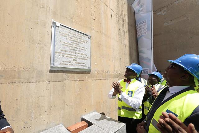 Le Président de la BAD pose la première pierre de l'Usine de pied du barrage de Lom Pangar au Cameroun, 16 juillet 2017