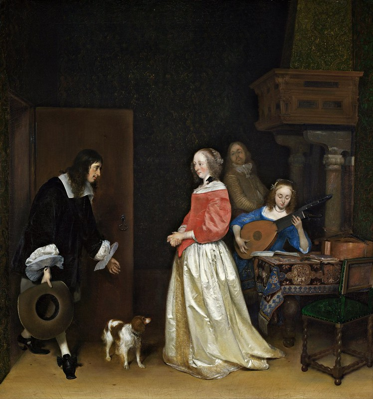 Gerard ter Borch the Younger - The Suitor's Visit (c.1658)