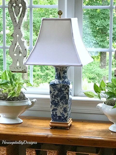 Ironstone-Blue and White Lamp-Housepitality Designs