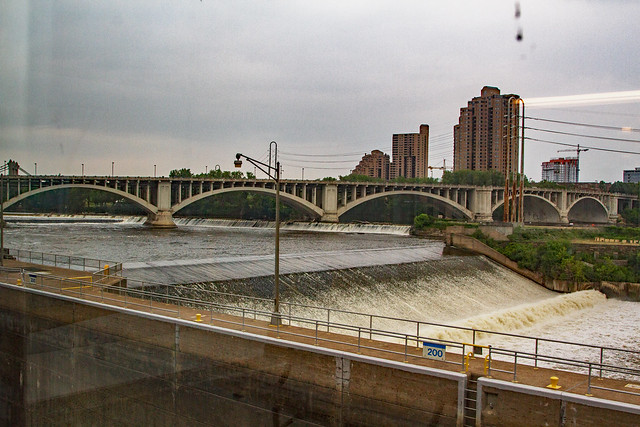 st. anthony Falls from the visitor center