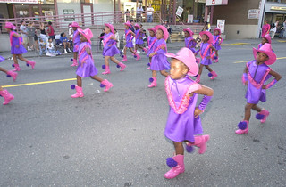 Babynetts Drill Team in University District Seafair parade, 2002