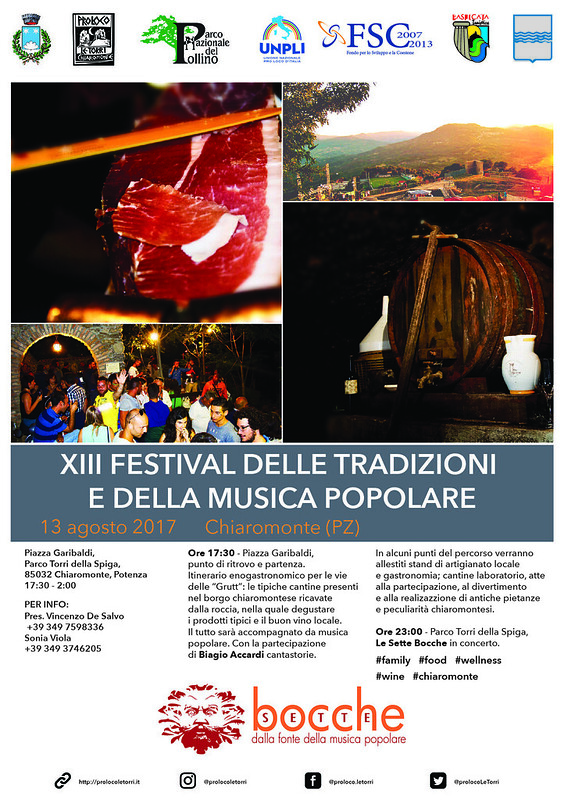 XIII Festival delle Tradizioni e della Musica Popolare - 13 agosto 2017 - Chiaromonte (PZ)