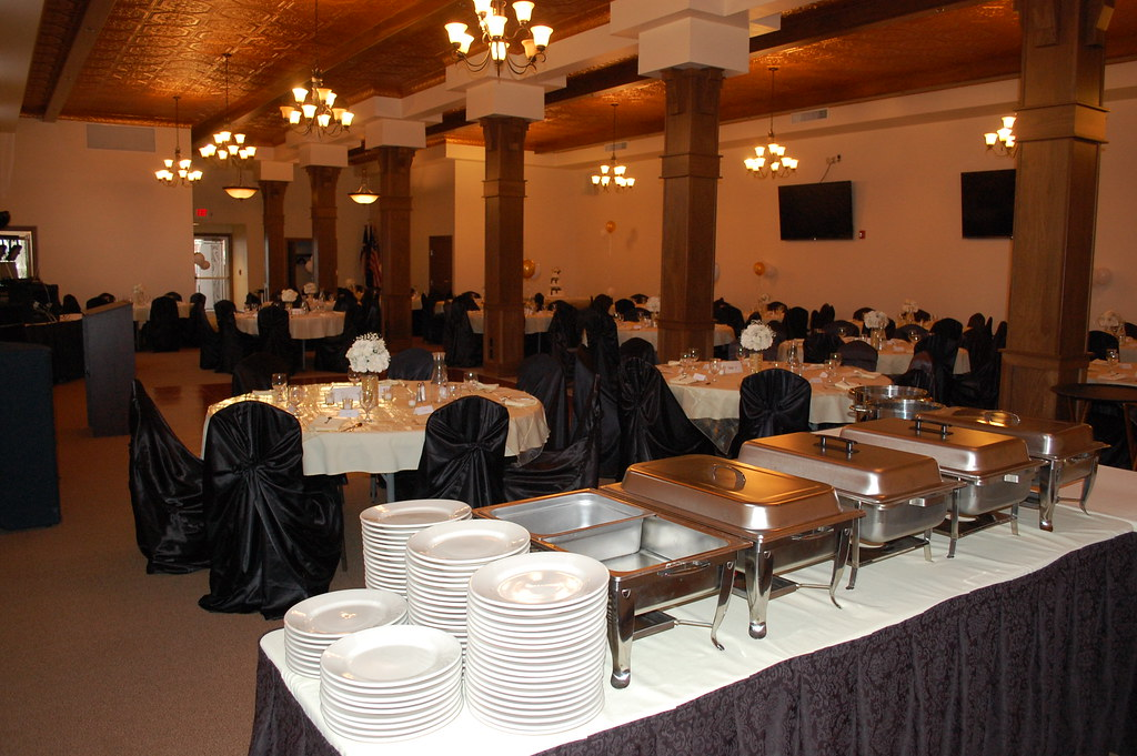 Catering Setup for Wedding Reception