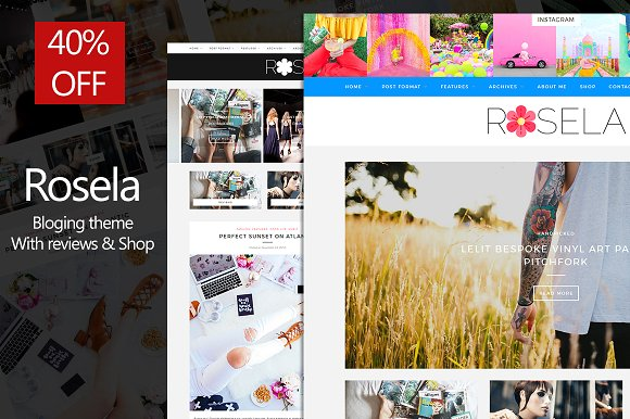Rosela v1.0.0 – Blog/Magazine with review