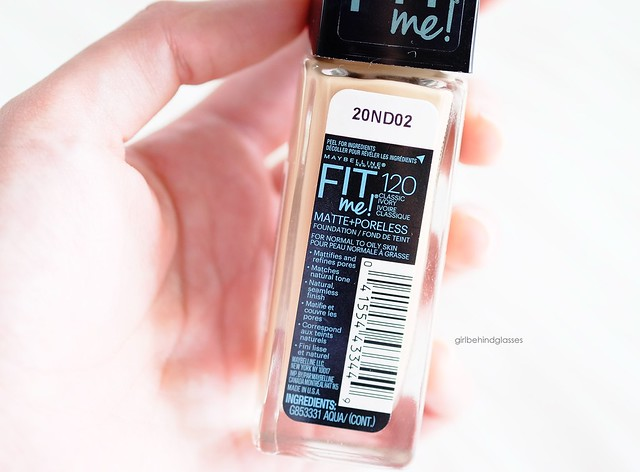 Maybelline Fit Me Matte + Poreless Liquid Foundation2