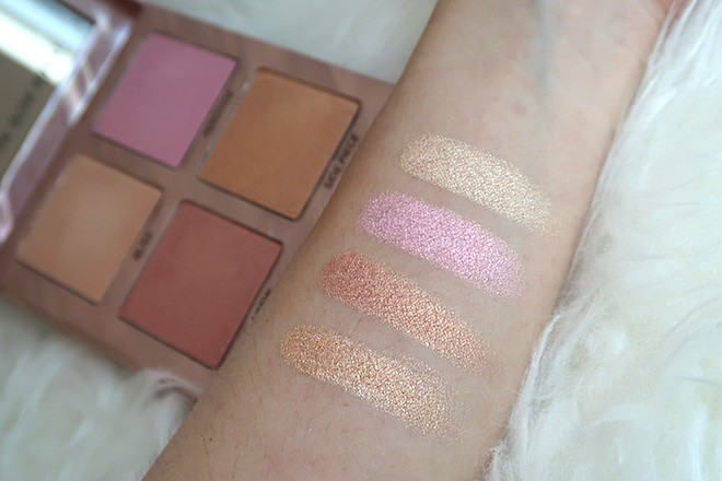 Swatches of UD Afterglow Highlighter Palette