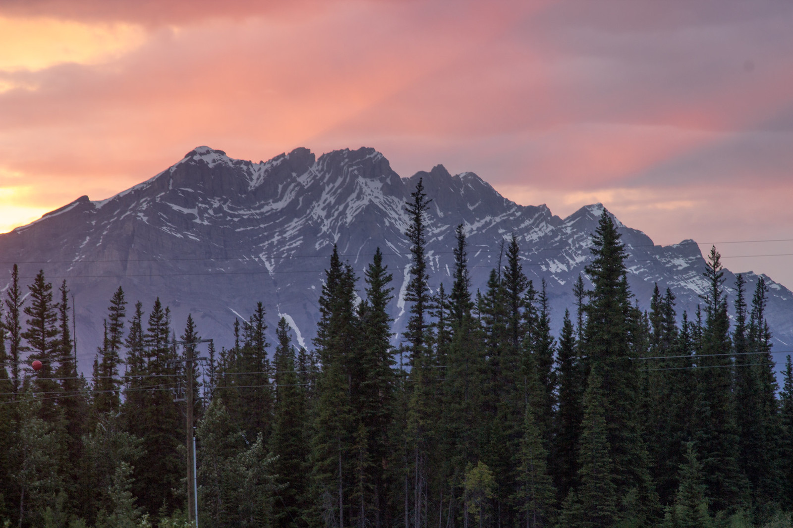 Sunset on the Bow River Loop, Canmore, Alberta