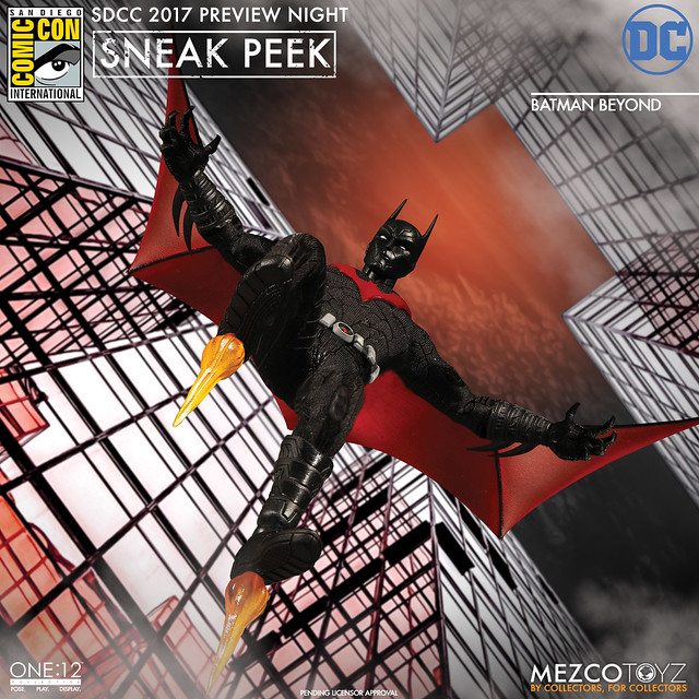 MEZCO – ONE:12 COLLECTIVE 系列【未來蝙蝠俠】Batman Beyond 1/12 比例人偶作品