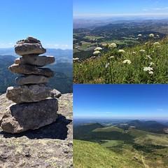 Ascension du Puy de Dôme  #climbing #climber #climb #puydedôme #auvergne #volcansdauvergne #landscape #stones #grass #field #altitude #sky #bliesky #walk #beautiful #beauty