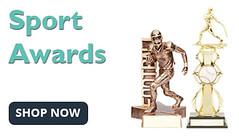 Personalized sport awards for baseball, basketball, soccer, football, cheerleading