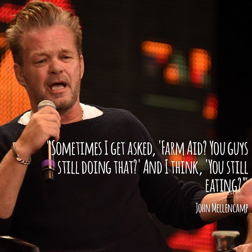 #wednesdaywisdom from @johnmellencamp (? by Ebet Roberts at Farm Aid 2016)