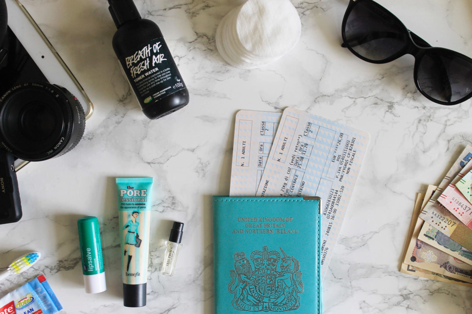 Travel essentials for long haul flights what to pack blogger UK