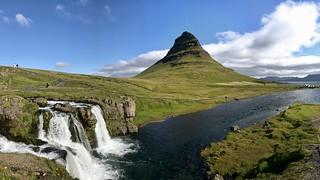Kirkjufell Mountain with Kirkjufellsfoss in the front