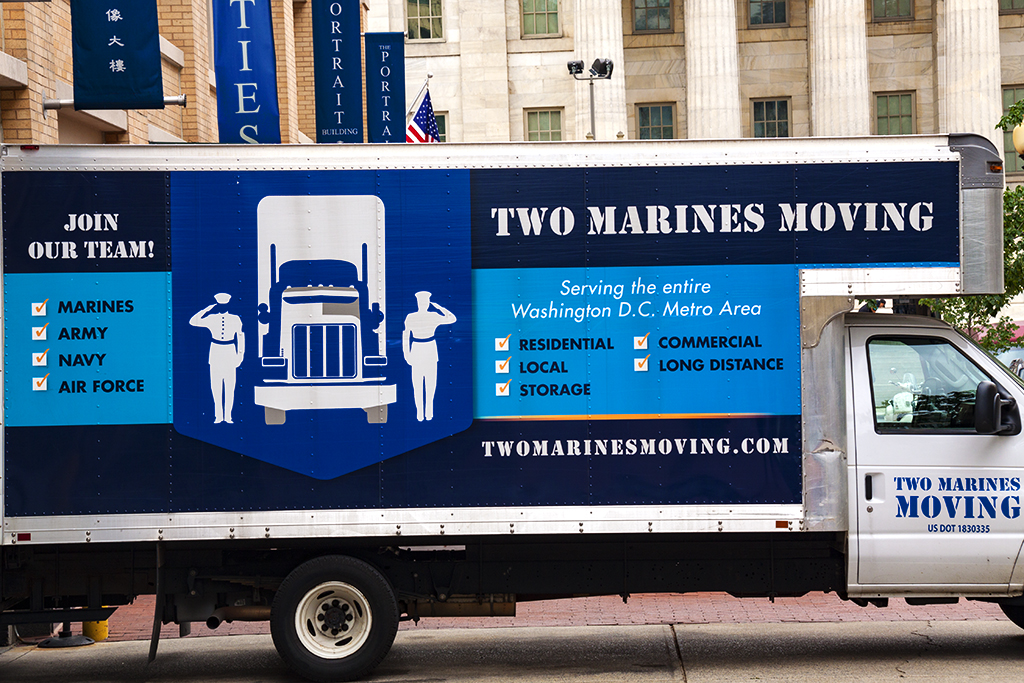 TWO MARINES MOVING--Washington