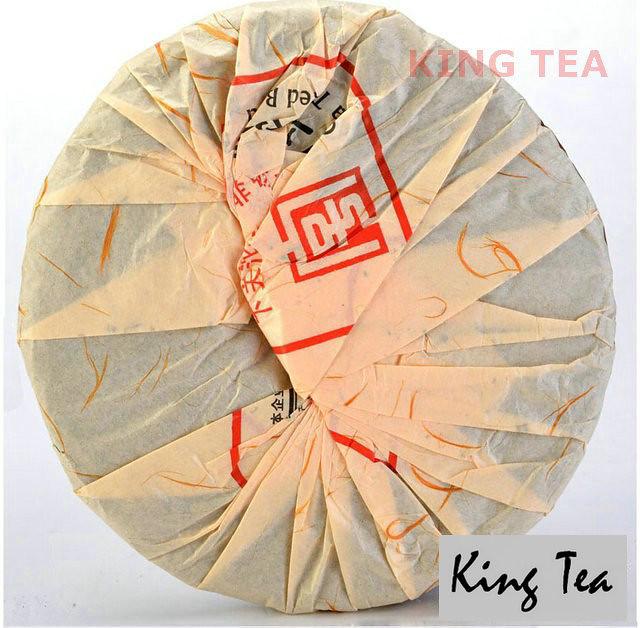 Free Shipping 2012 XiaGuan YiWu MaHei Beeng Cake 357g YunNan MengHai Organic Pu'er Raw Tea Weight Loss Slim Beauty Sheng Cha