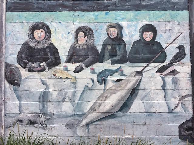 Mural inuit en Groenlandia