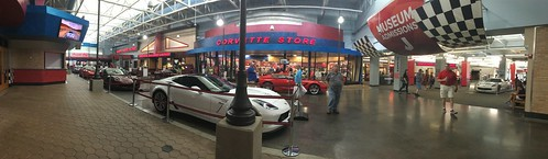 corvette museum display stores giftshop panoramic view