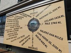 Gardiner's Corner Distance Sign