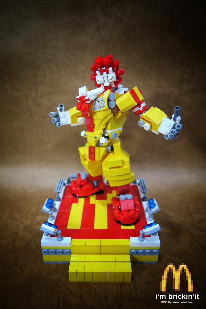 巴啦巴巴巴~這....這個麥當勞叔叔也太帥了吧!!樂高MOC【麥當勞叔叔機甲】Mcdondon Mech