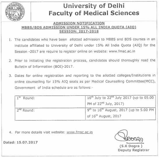 DU FMSC Notification