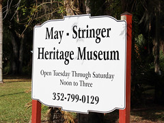 May-Stringer Museum Sign, Brooksville