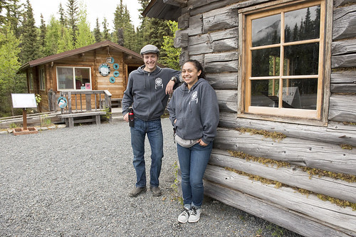 Gideon Collver and Ruby Willoya-Williams are helping visitors at the tribe's K'Beq' Cultural Site this year.