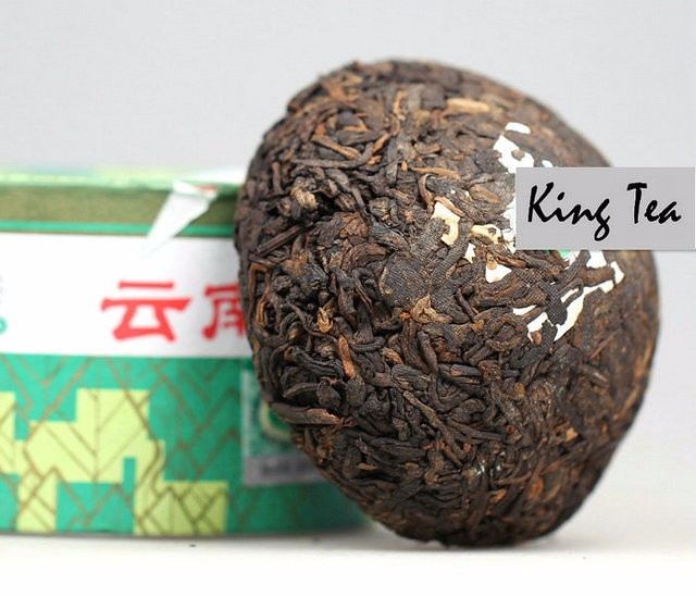 Free Shipping 2010 XiaGuan XiaoFa Boxed Tuo 100g China YunNan KunMing Chinese Puer Puerh Ripe Tea Cooked Shou Shu Cha Weight Loss
