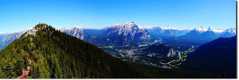 Panoramic View at Banff Gondola Station facing North 1