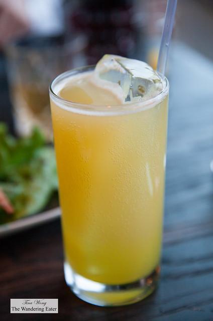 Off menu cocktail - Velvet Underground - Saffron infused gin, yuzu sour, Grimm ale